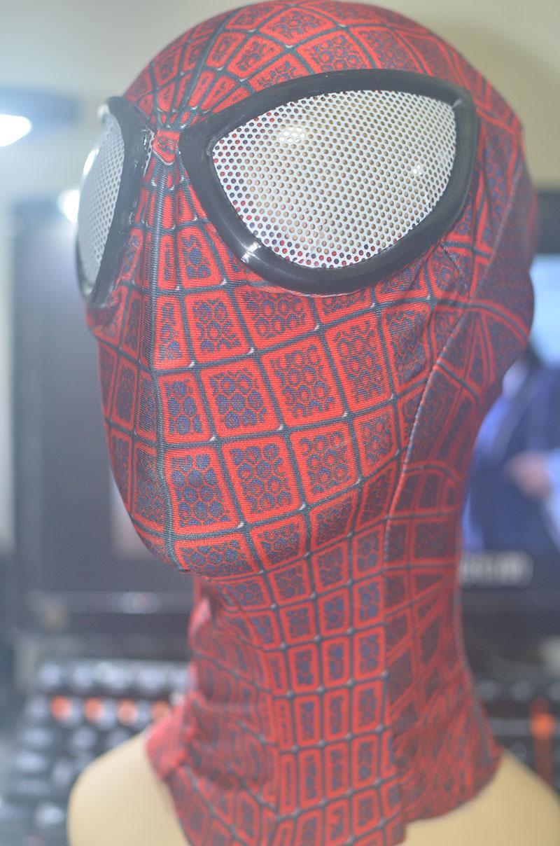 2017 2017 Amazing Spiderman Fabric Adult Costume Mask Cosplay ...