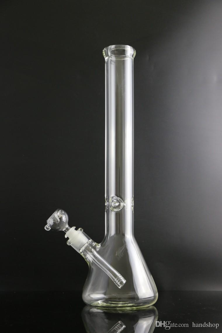 Cookahs Beaker 9 мм Bong 12-дюймовый лед толстым слонам Стеклянная водяная труба с 14/18 внизу 14 мм чаша прямой тип