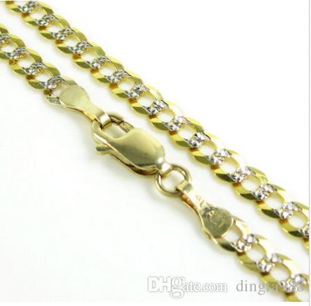 """24 """"3,75 mm 8,50 grammi 10k oro giallo Miami Cuban Diamond Cut Mens catena collana"""