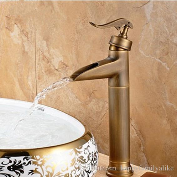 2018 Antique Copper Bathroom Sink Faucet Oil Rubbed Bronze Faucet ...