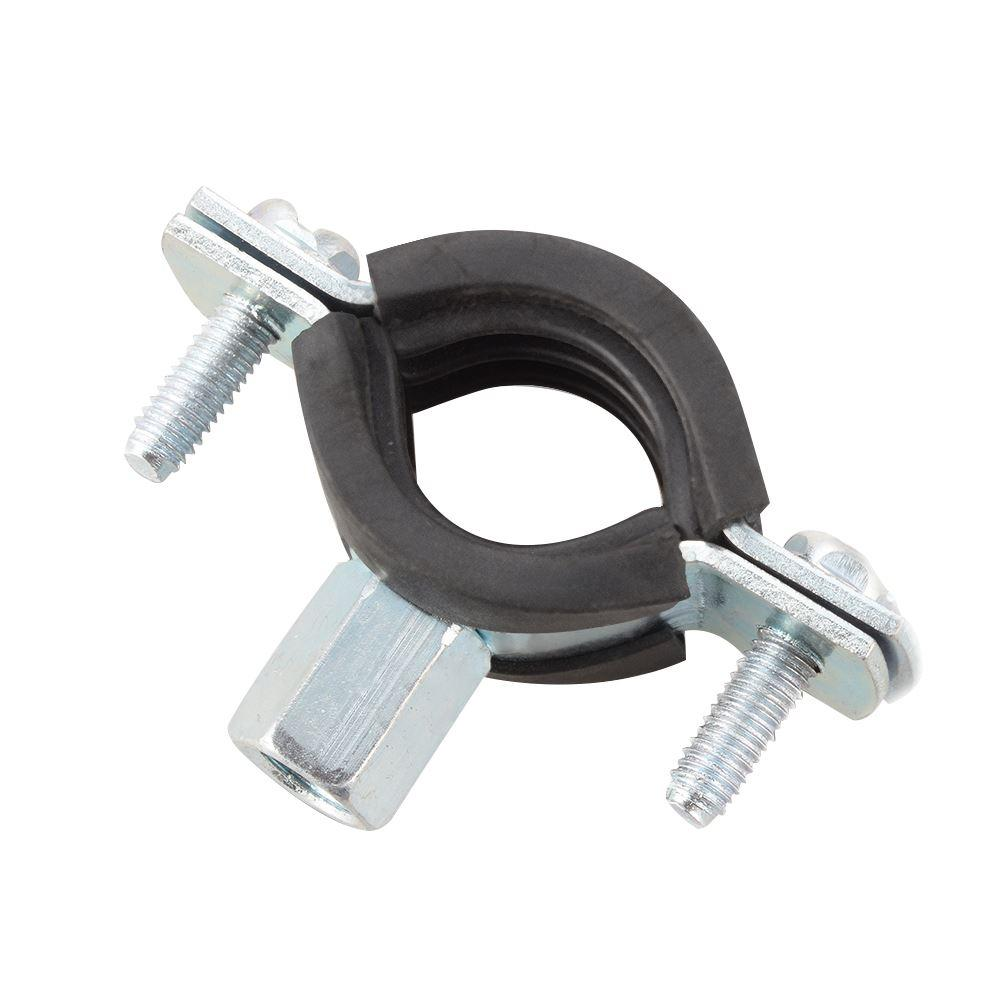 Spring Clip Pipe Clamp Black for Diameter 25mm = 1 inch