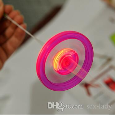 Cheap Led Fidget Spinner for Kids Led Toys Sound Lighted UFO Pull light-emitting flywheel flash top hand flying saucer Spinning Toys Gifts