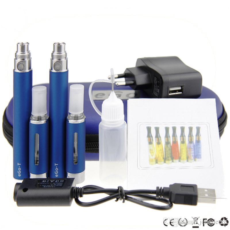 mt3 ego double kits ego mt3 large kits double mt3 atomizer ego t battery 650mah 900mah 1100mah e cigarette kit free shipping