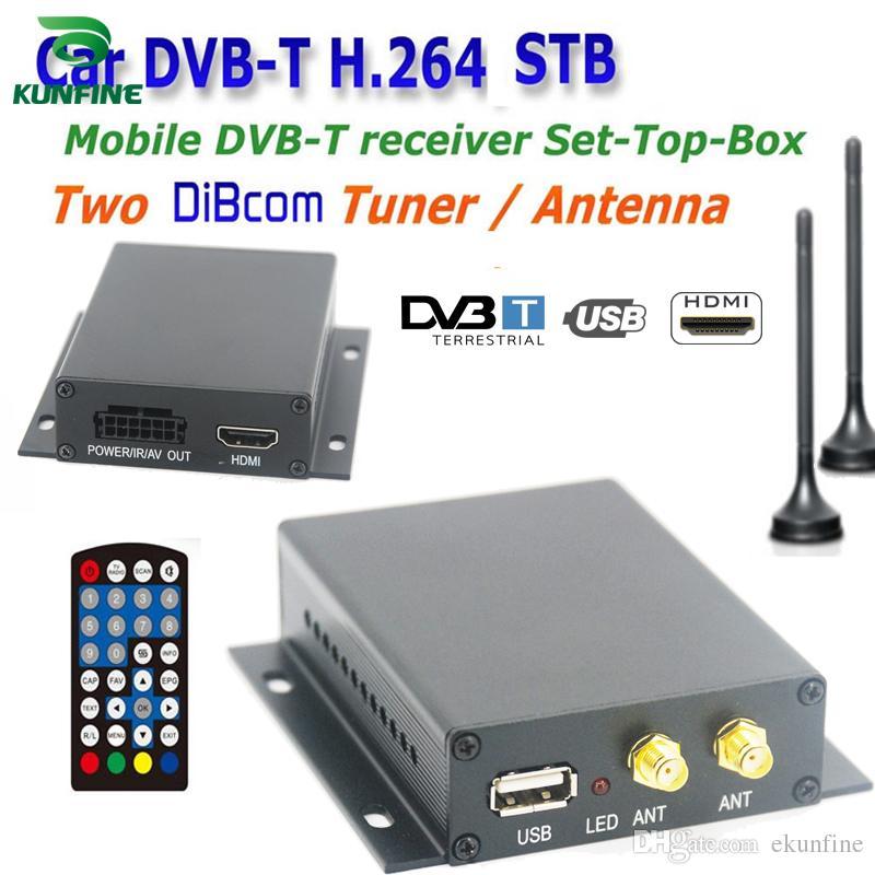 12 ~ 24V Car DVB-T TV Box Diversity 2 Antenna MPEG2 MPEG4 H.264 STB Funzione di ricerca automatica della rete KF-V8004