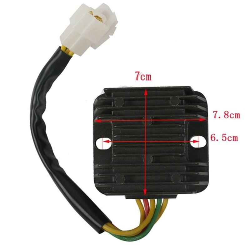 R2043.4 R/égulateur de tension redresseur pour Hyosung GT650R GT650 Comet GV650 ST7 GT650S MOTO Accessoires noir