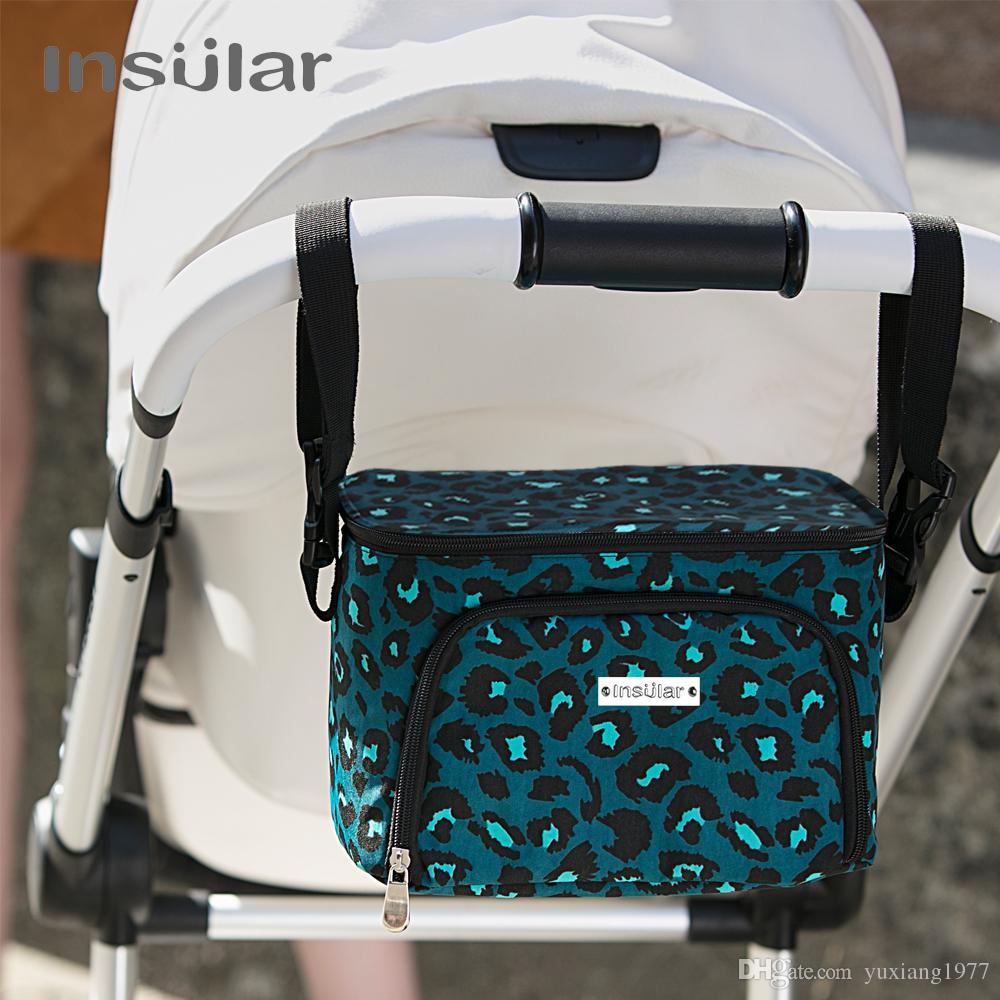 Insular جديد نمط عربة طفل شنقا حقيبة العزل الحراري حفاضات الطفل حقيبة برودة حقيبة