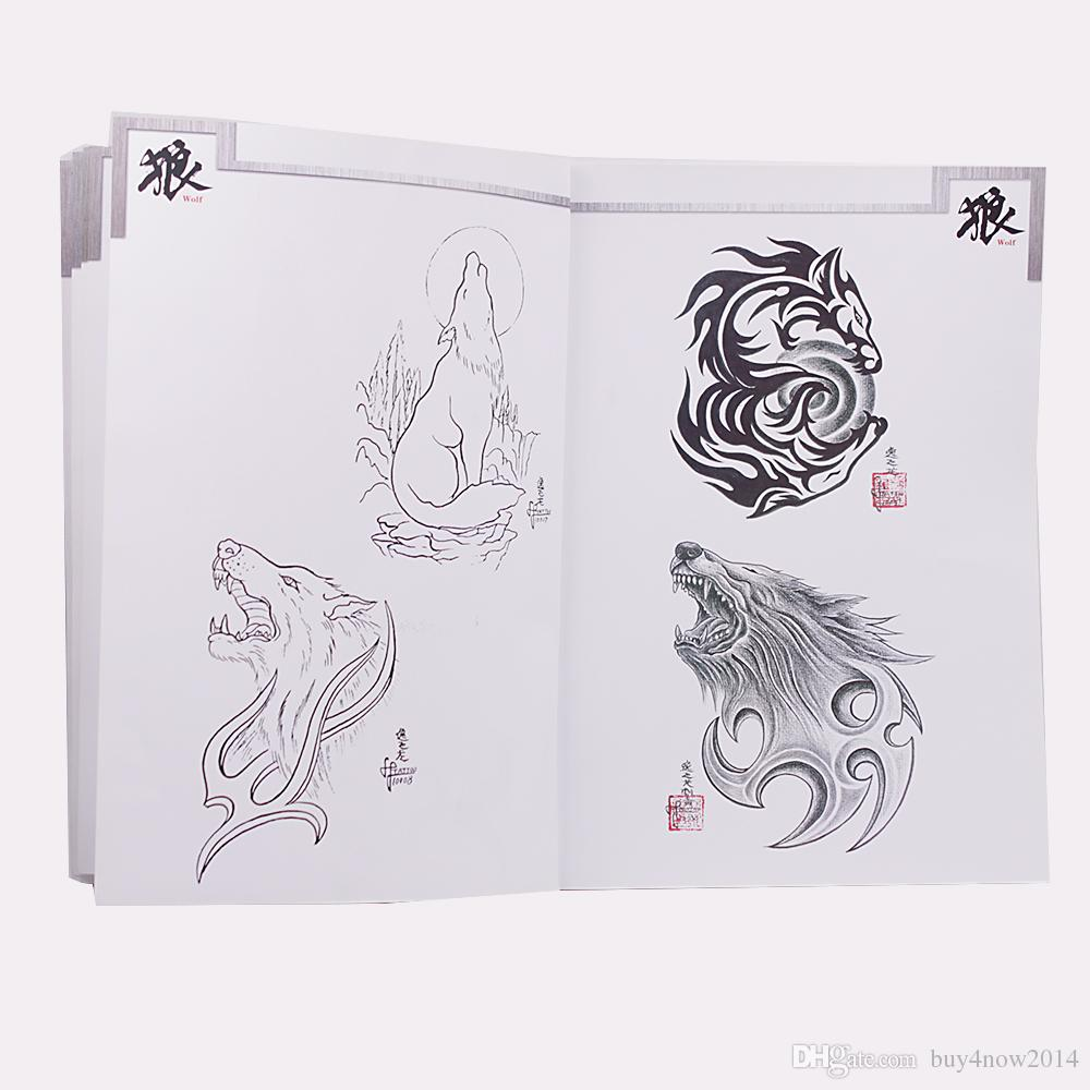 Thanks For Stepping By Good To Buy Shop Creative Animal Pattern Tattoo Book Multi Wolf