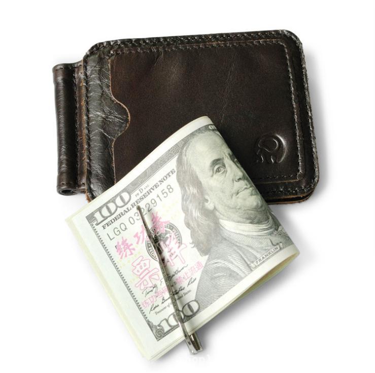 Men\'s Wallets Leather Money Clip Front Pocket Wallet Thin Credit ...