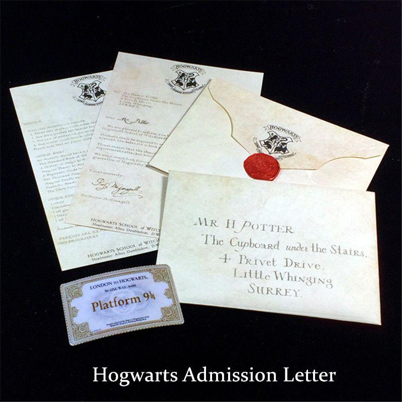 Acheter Lettre D Admission Créative De Poudlard Collection D Enveloppes Rétro Harry Potter Pour Les Fans De Harry Potter De 3 52 Du Huangguoxiong