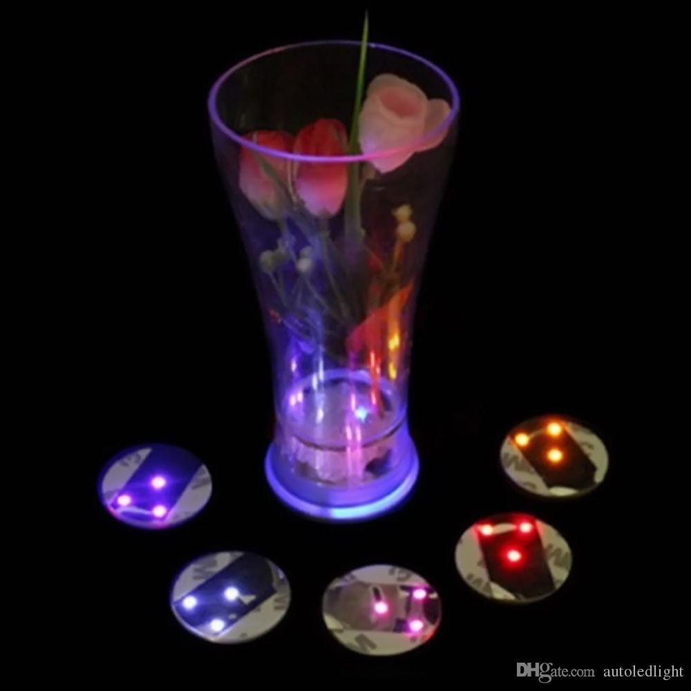 Leuchten Sie geführte blinkende Aufkleber-Schalen-Becher-Untersetzer-Schalenmatte der Flaschen-3M für Urlaubsparty-Partei-Barclubs