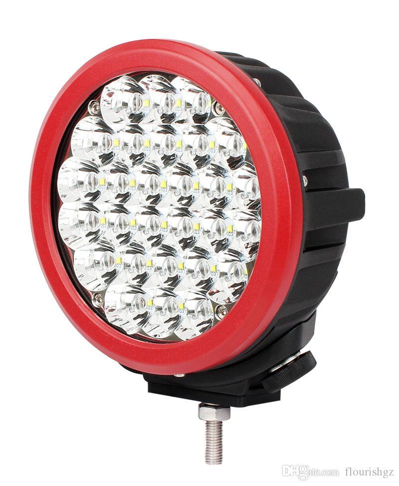 """EL ccsme 2PCS 7 """"140W 14000lm Cree Chips Luz de trabajo de conducción LED Offroad SUV ATV Spot Lápiz Haz 28LED * 5W Potencia Cubierta protectora contra inundaciones brillante"""