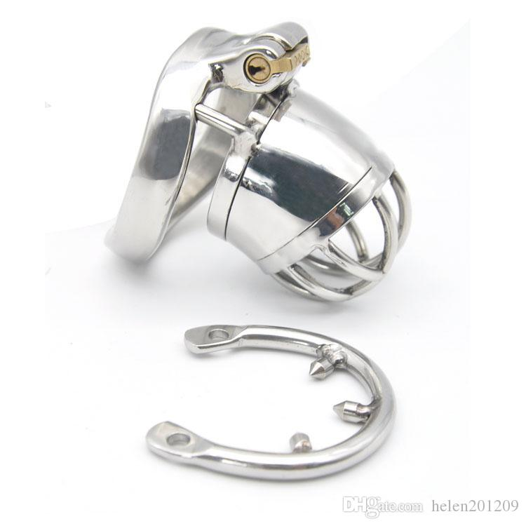 Dispositivos de diseño de castidad de castidad masculinos Acero inoxidable Último A271-1 Jaula BWTLB