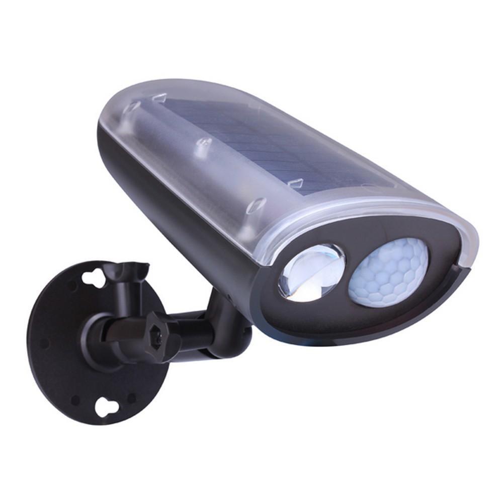 Al por mayor-3W Solar Powered Panel LED SpotLight PIR Sensor de movimiento de luz Jardín al aire libre Inicio Garaje Lámpara de emergencia Seguridad Luz de calle