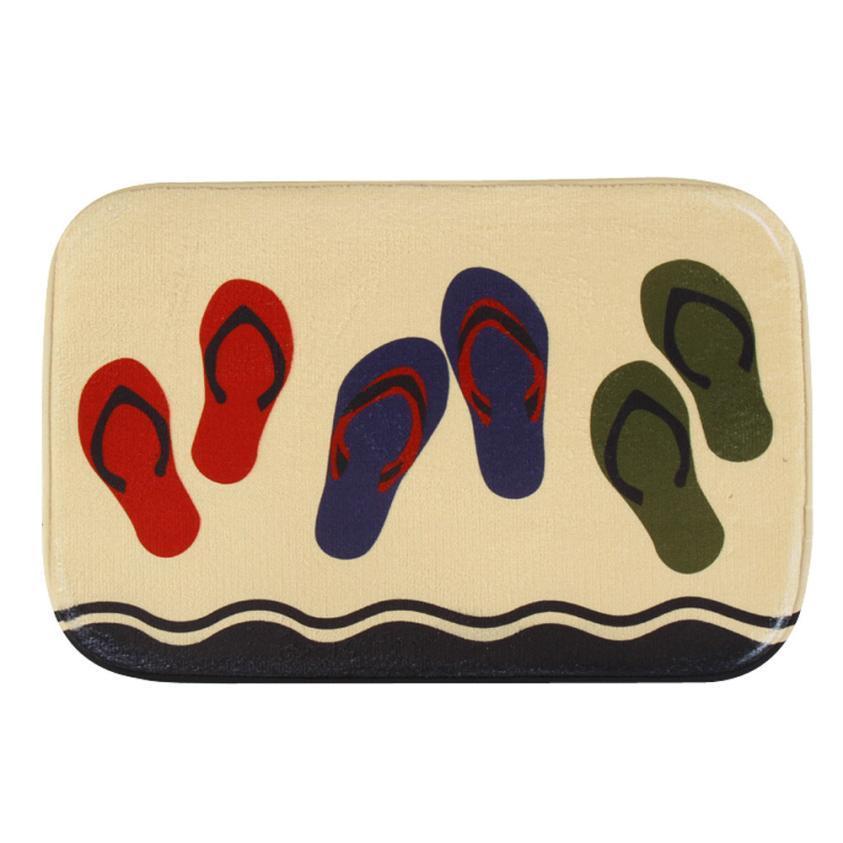 Venda por atacado - Hot Sale New Design tapete tapete de banho para tapetes de entrada tapete de entrada da cozinha ao ar livre Coral Fleece absorvente não-slip mat Banheiro XT