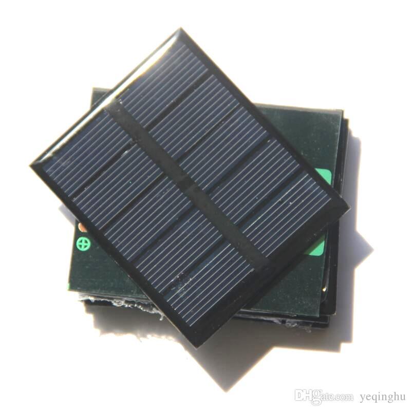 Qualität 0.5W 2.5V Solarmodul-Solarzelle-Modul DIY Spielzeug-Platte polykristalline Solarzelle-Platten-Epoxy 58 * 70 * 3MM 5pcs / lot geben Verschiffen frei