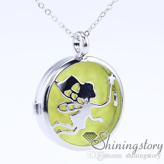 BFF Jewelry Aromatherapy Essential Oil Necklace Diffuser Locket Necklaces Cute Daffodil Flower Pendant