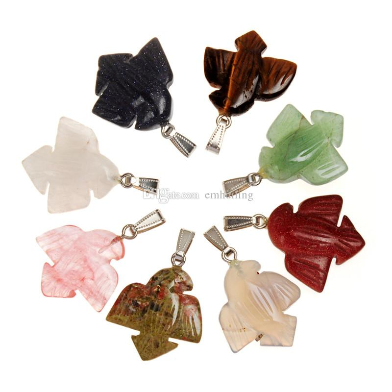 Hot 10Pcs Stylish New Natural Stone Tiger Eye Blue Gold Sand Stone Cute Jewelry Dove Peace Pendant for Making Women Lady Perfect Gift