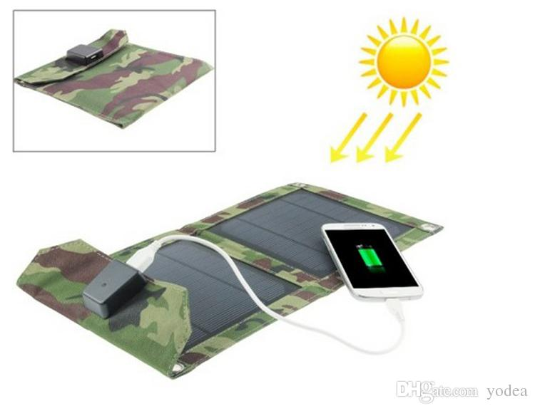 Portable Folding Foldable 5W 5V USB Camping Solar Panel Powered Charging Charger Battery Mobile Cell Phone Power BankCharger