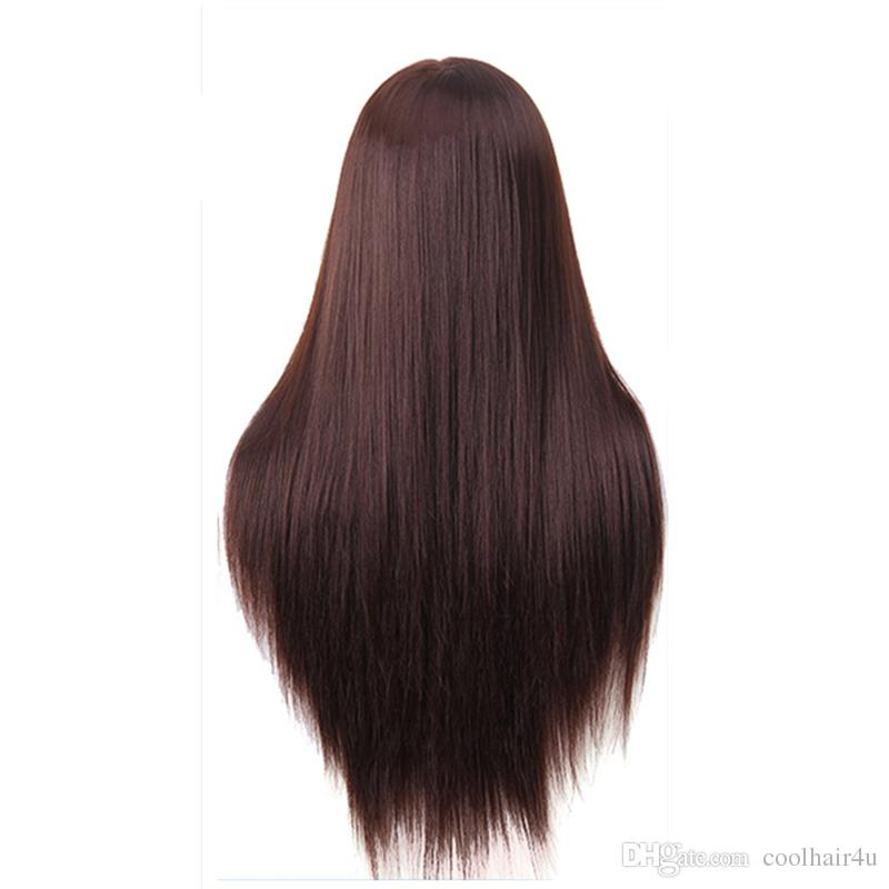 60cm hairdressing dolls head very long yaki hair Female Mannequin Hairdressing Styling Professional Training Head Mannequin Head + Clamp