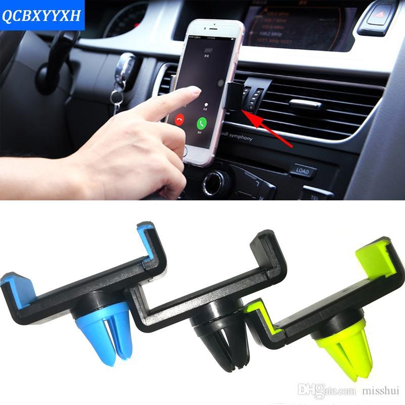 Автомобильный держатель телефона 360 Rotate Универсальный Регулируемый автомобильный держатель для iPhone 7 Samsung Air Vent Mount Автомобиль Подставка для iPhone Аксессуары