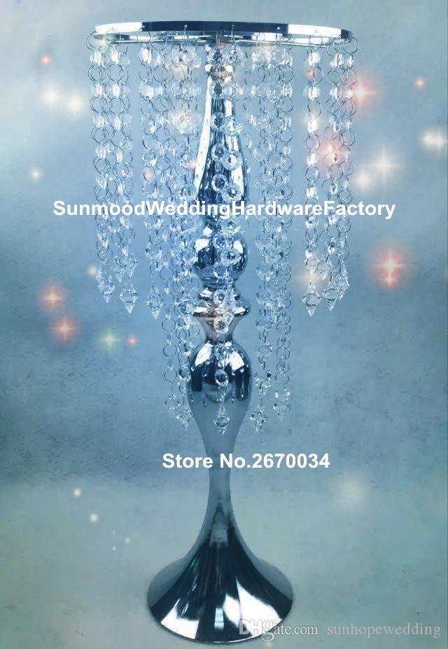 6 خيارات يمكن أن تختار) منتج جديد حامل زهرة حامل شمعة الزفاف مع الكريستال hangging للزينة الزفاف