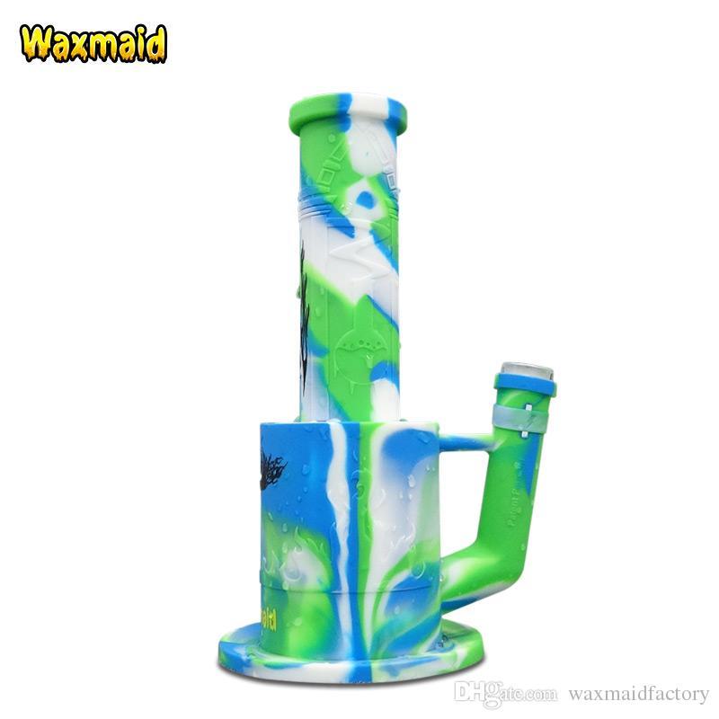 Toptan Waxmaid Magneto petek perdesi bong silikon büyük bong percolators su boruları kuru ot Nargile Nargile
