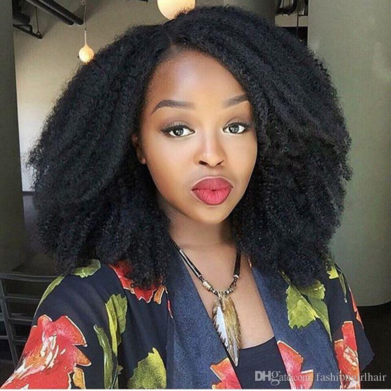 Black Women Afro Kinky Curly Wig Fashion Black Short Curly Hair Wigs for Women