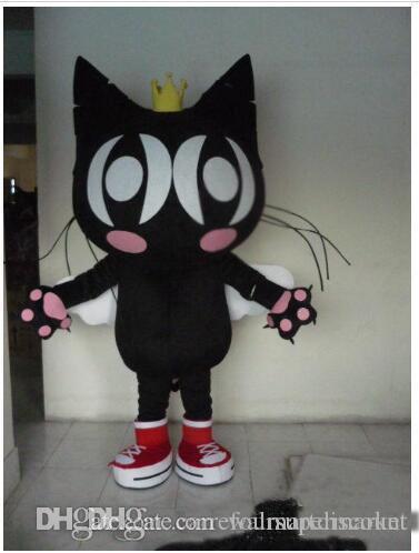 2017 hochwertige schwarze katze maskottchen kostüm karneval kostüm halloween dress ems versandkostenfrei