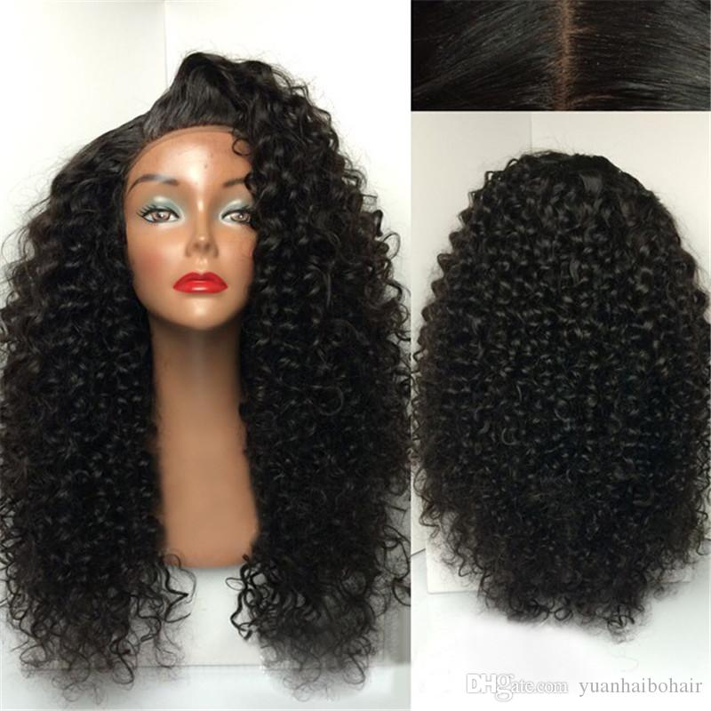Stock Wigs High Quality Kinky Curly Unprocessed Human Hair Elastic