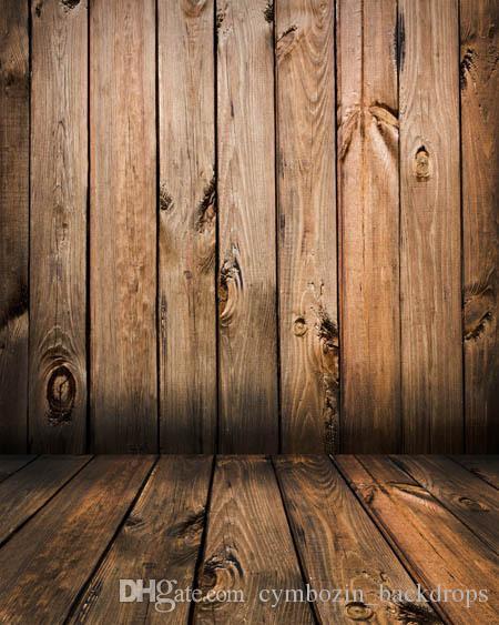 Vintage Brown pared de madera fotografía telones de fondo de tela de vinilo bebé recién nacido Photo Prop estudio fotográfico fondo piso de madera