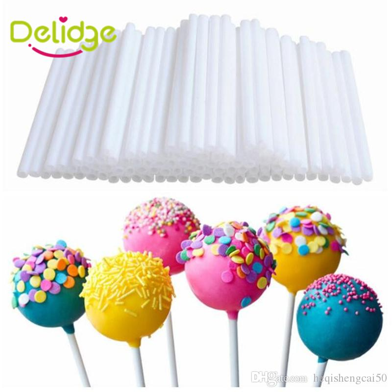 50 pcs/set 15 cm Colorful Lollipop Stick Paper Pop Sucker Sticks Cake Pop Sticks For Candy Chocolate Sugar Stickers