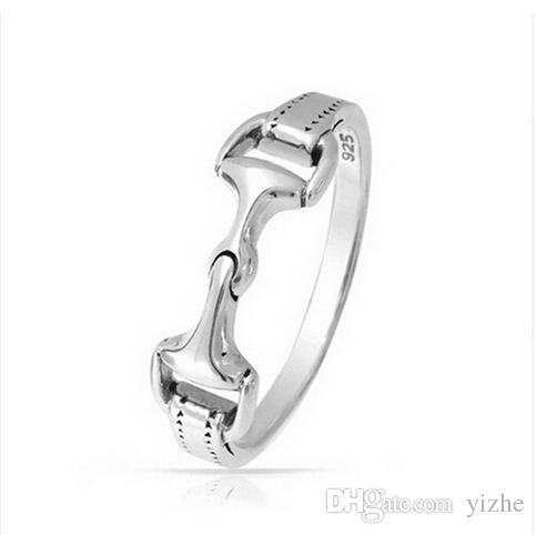 echte 925 Sterling Silber Damen Herren Pferd Bit Trense Bit Ring