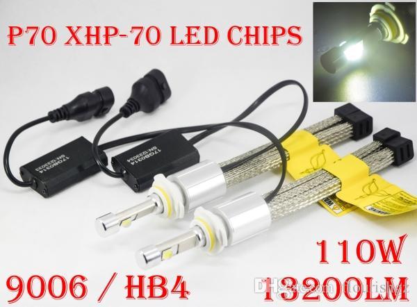 2017 NUOVO 1 Set 9006 HB4 P70 Cre 13200LM 110W LED Headlight Slim Auto Car Kit 55W XHP-70 guida la lampada della nebbia della lampadina H7 H4 H8 H11 Repl HID alogeni