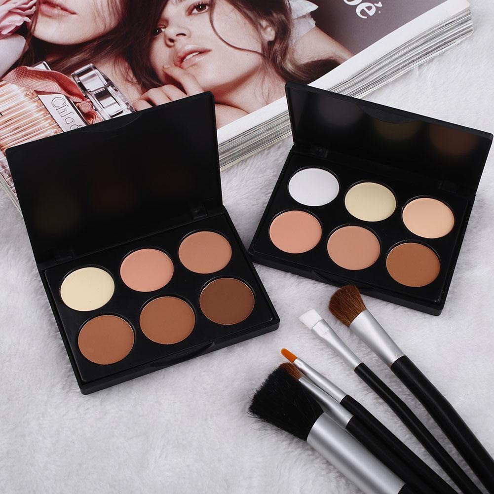 Großhandel 2016 neue mode 6 farben make-up kosmetische kontur gesicht concealer power-palette für frauen schönheit