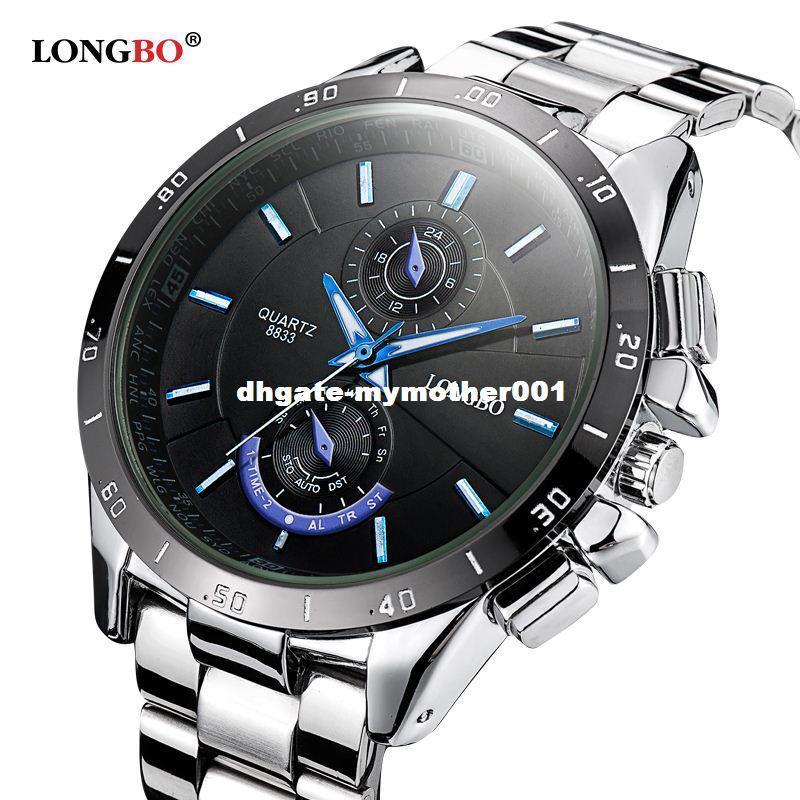 LONGBO Marca 2016 Nuevo Reloj de Moda de Lujo de Acero Inoxidable de los hombres Elegantes Negocios Reloj de Cuarzo Diseñado Para Hombres Reloj de Alta calidad