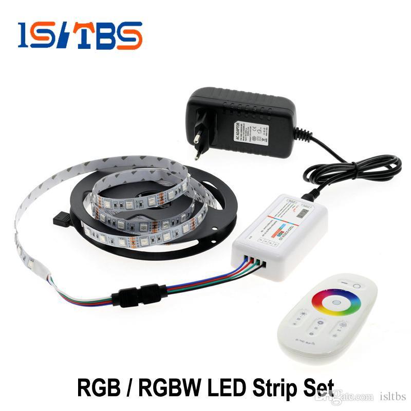 5M LED Strip Light RGB RGBW 5050 RGBWW Touch Controller 2.4G+Power IR//RF Remote