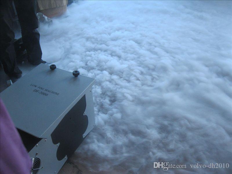 Venta caliente 3000W Máquinas de niebla baja al aire libre 3000W Máquina de niebla de tierra baja de la boda Máquina de la boda Máquina de humo Llfa