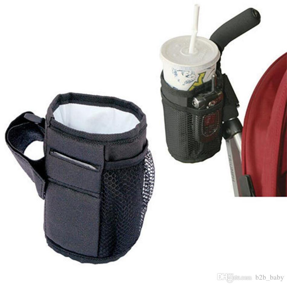 طفل عربة حقيبة القدح كأس حامل زجاجة عربة عربة المنظم أكياس ماء كأس أكياس زجاجة العالمي LJJO2847