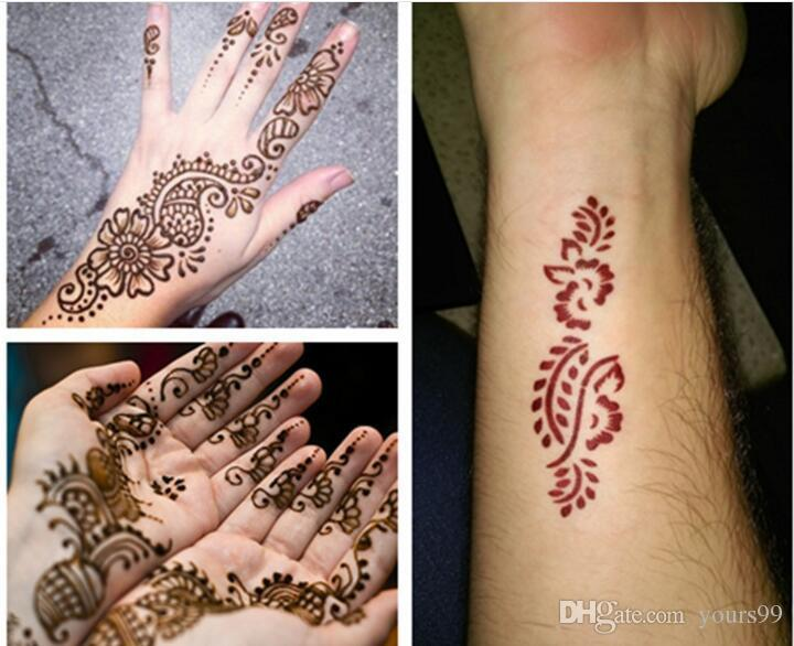 Mehndi Body Art Quality Henna : Hot new black natural indian henna tattoo paste for body drawing