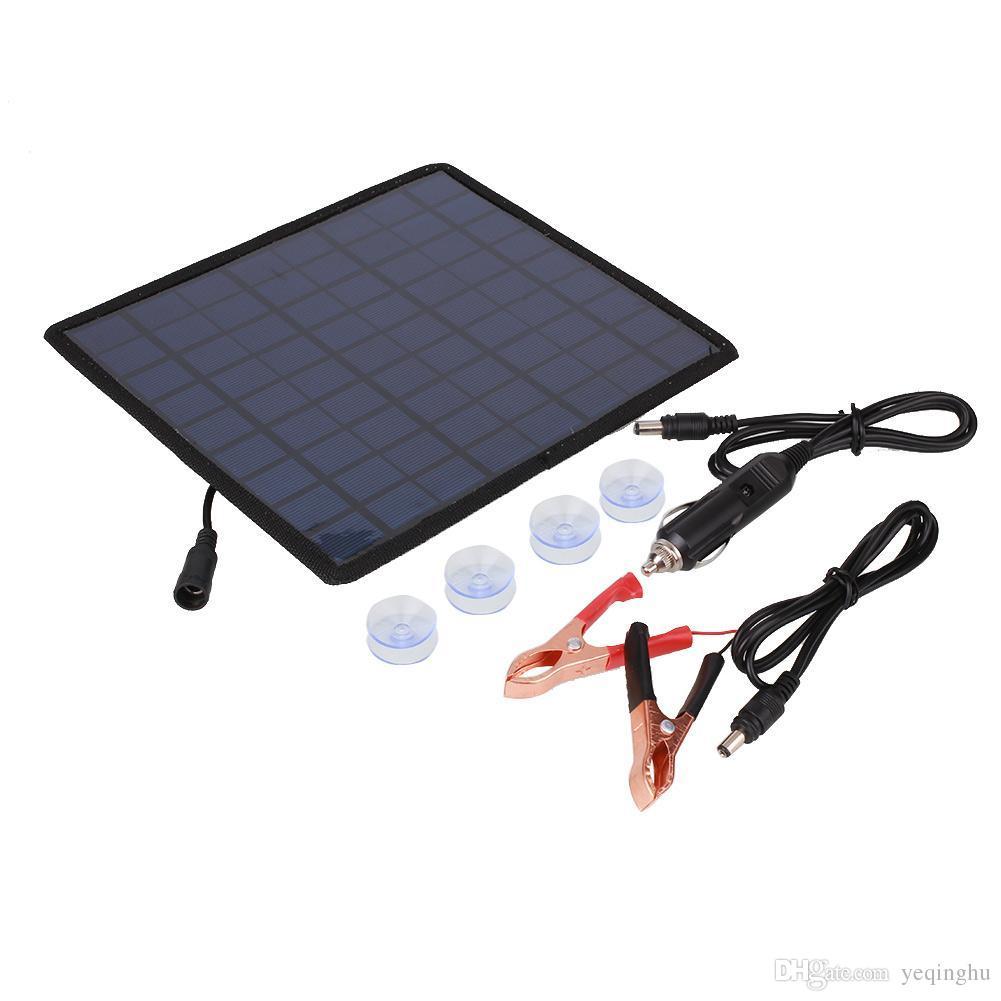 حار 18V 5.5W شاحن للطاقة الشمسية لوحة للطاقة الشمسية / شاحن بطارية للسيارة / موتو الطاقة الأخرى 12V بطارية قابلة للشحن جديد شحن مجاني