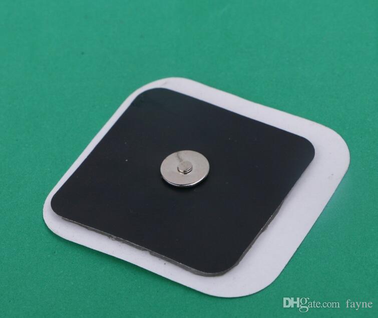 400 pz DHL 10 mm Magnetico pulsante massaggiatore elettrodi in gel di silice per Tens ems massaggiatore dispositivo cintura