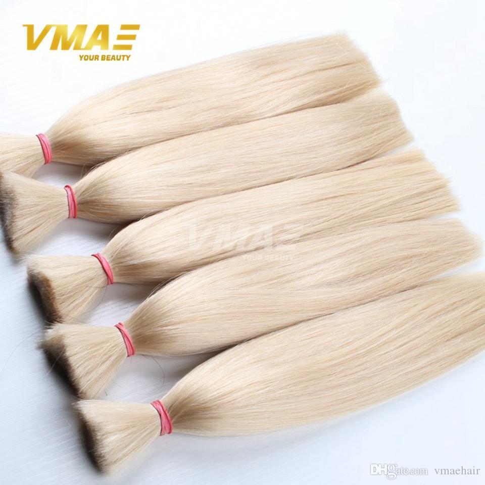 Brasileiro VMAE Cabelo Top Quality Hair Bulk Extensão Do Cabelo Brasileiro Virgem Trança Sem Trama 3 pcs Por Muito 100% Humano peruca