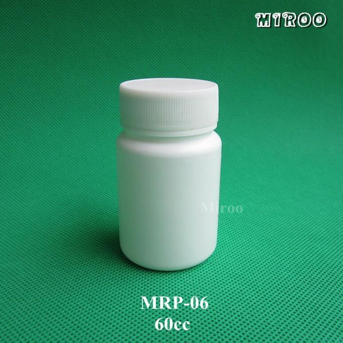Bottiglia di plastica delle capsule di progettazione di forma rotonda di 50sets / lot 60cc, piccola pillola di plastica dell'HDPE medicina bianca Bottiglia riutilizzabile