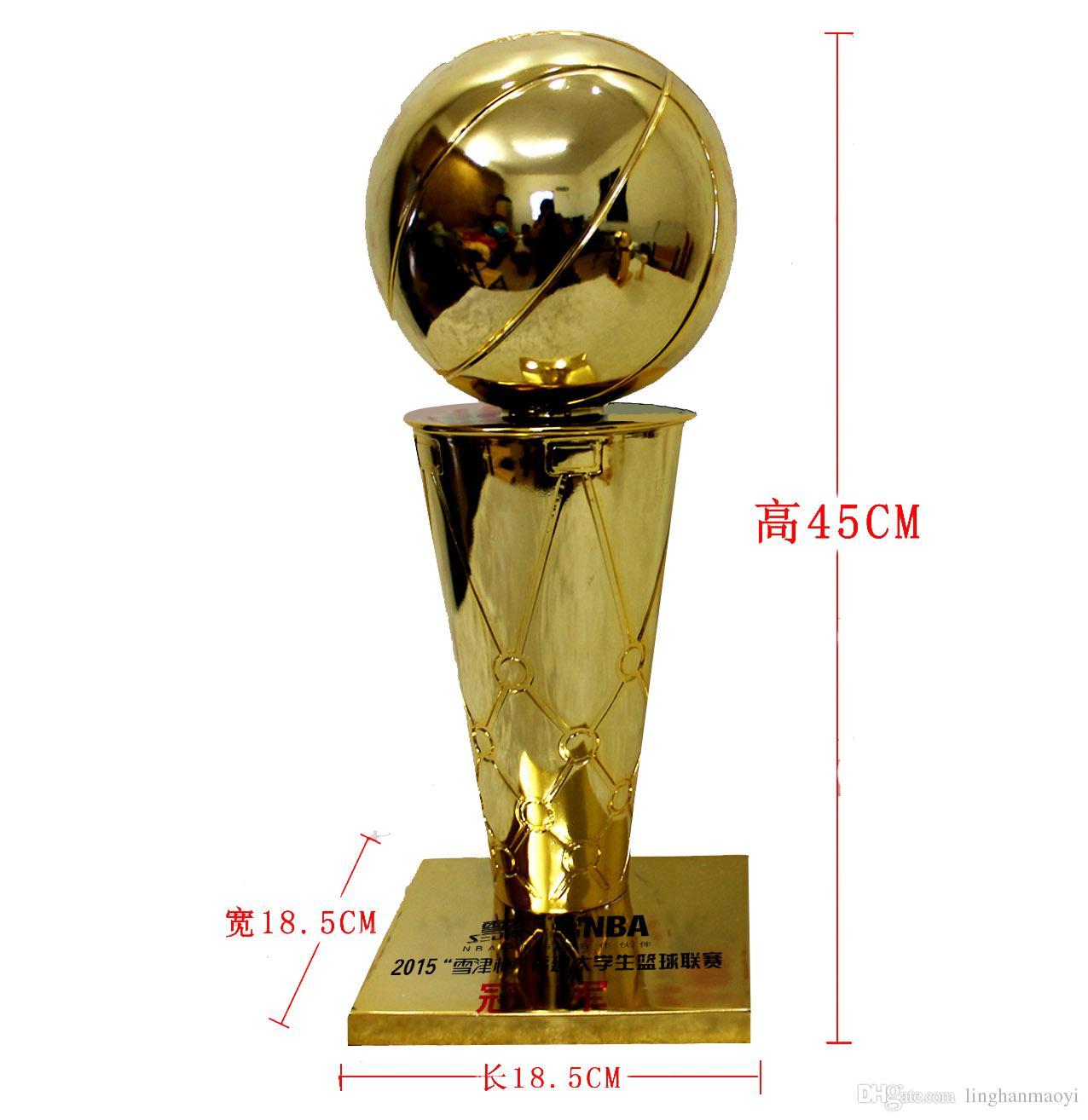 45 CM Yükseklik Larry O'Brien Trophy Kupası Şampiyonu Trophy Basketbol Ödülü Basketbol Turnuvası Basketbol Maçı Ödülü