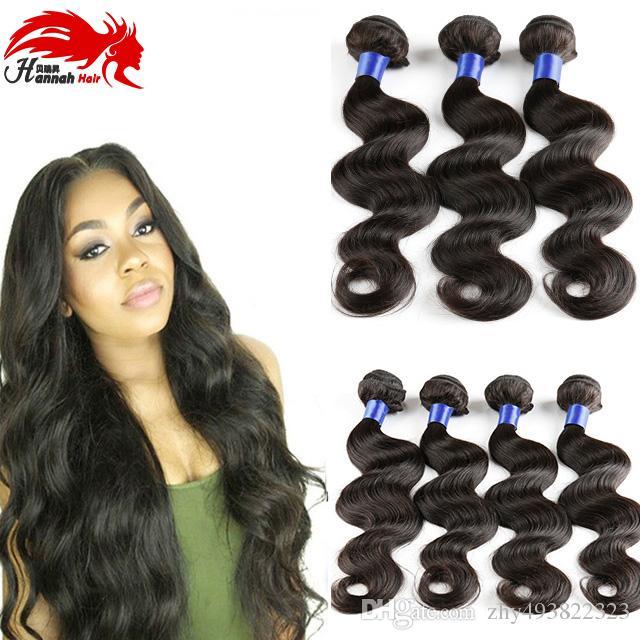 100% Brazilian Virgin Human Hair Bundles 8A Unprocessed Body Wave Remy Human Hair 3 Bundles Wavy Hair Extensions For Women Nat