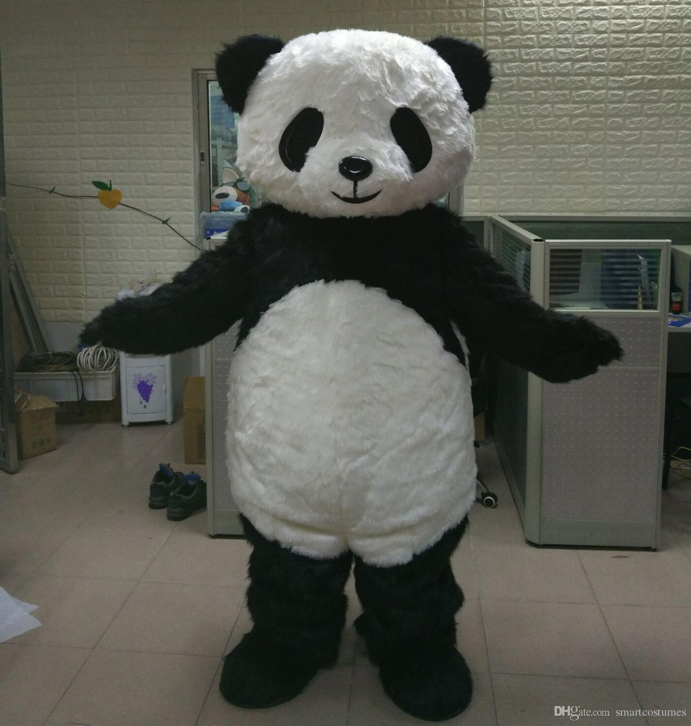 Brand New Big Fat Furry Panda Bear Mascot Costume For Adult Panda Mascot Suit For Sell Rocky Horror Picture Show Costumes Girl Costumes From Smartcostumes 293 41 Dhgate Com