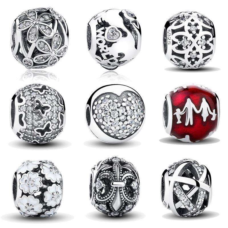 Atacado Hot Sale 925 Sterling Silver Nature's Radiance Charme Beads Fit Pulseira Pandora Original Pulseira Autêntica DIY Jóias