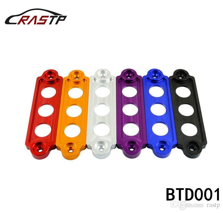 RASTP-JDM Style Car Battery Tie Down Fit for Civic / CRX 88-00, S2000 for Integra with Logo RS-BTD001