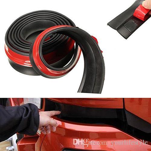 Высокое качество Универсальный 2,5 м автомобильной юбки для губ для губ Protector Front Bumper Spoiler боковая резиновая полоска отделка дешево