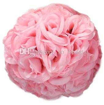 15cm Artificial Silk Rose Pomander Flower Balls Wedding Party Bouquet Home Decoration Ornament Kissing Ball Hop